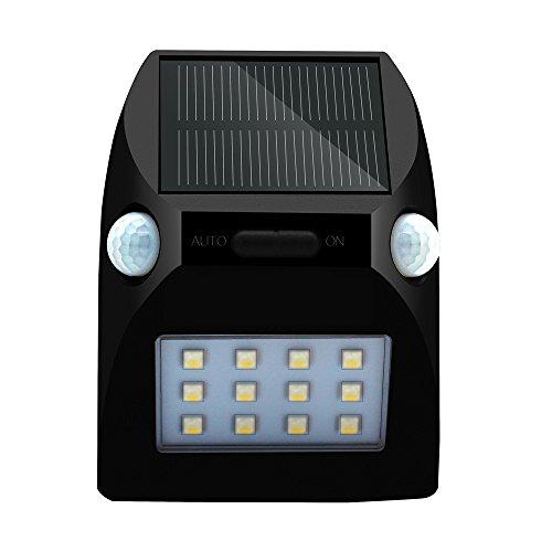 Solar Radiation Sensors (Solar Power PIR Motion Sensor Wall Light Makalon Garden Waterproof Lamp 12 LED)