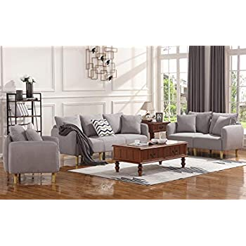 Honbay 2 piece sofa and loveseat set for - 8 piece living room furniture set ...