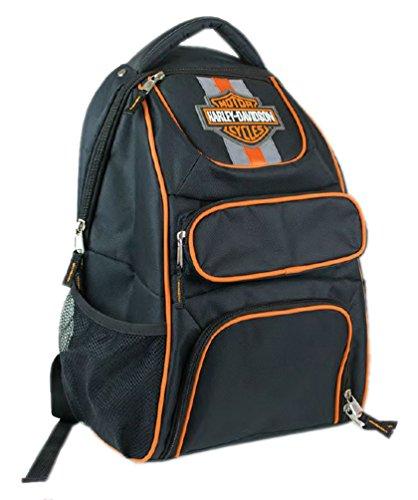 Harley-Davidson Compact Bar & Shield Reflective Backpack, 12 x 17 Black 7180541 (Boys Motorcycles Davidson Harley)