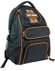 Harley-Davidson Compact Bar & Shield Reflective Backpack, 12 x 17 Black 7180541