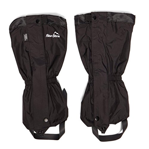 Peter Storm Hike Waterproof Walking Gaiters, Black, L/XL