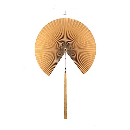 GWXLD Folding Fan New Section Chinese Decorative Wall Multi-Color Hanging Curtain Props Display Handmade Paper Craft New Year Gold-40cm (Best New Year Wishes In Hindi)