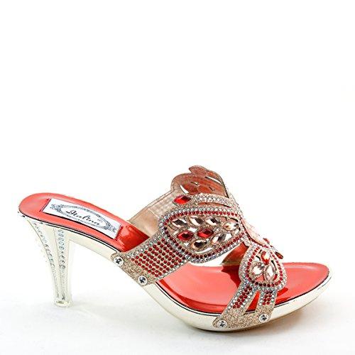 Sandali rossi per unisex Haflinger mWk1L93Uz