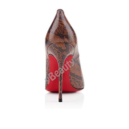 Serpentine Chaussures Ubeauty Stiletto Grande Talon Femmes Bout Taille Rond Aiguille Escarpins c qRERv7