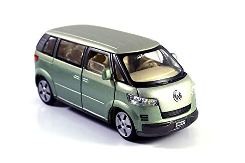 HCK 2001 VW Microbus Family Van Diecast Model Toy Car in Green