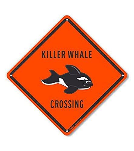 PetKa Signs and Graphics PKAC-0367-NA/_10x10Killer Whale Crossing Aluminum Sign 10 x 10
