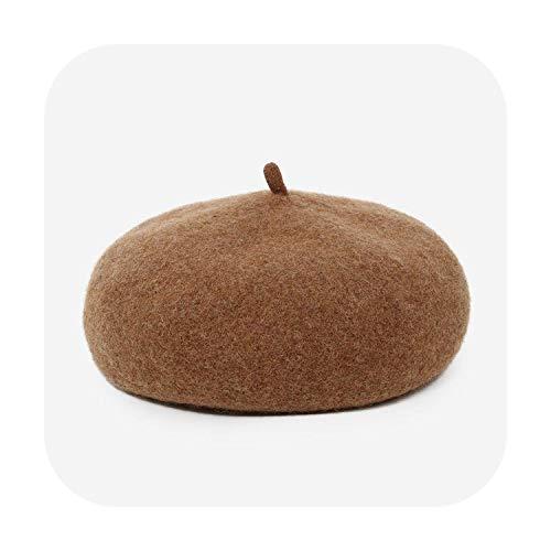 Wool Beret Autumn Winter Painter Hat Improved Section Pumpkin Mushroom Hat Thick Warm Hat Ladies