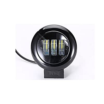 """LEDHOLYT 4"""" Round 30W White LED Off Road Light Driving Lamps Working Fog Flood Lights for Jeep Truck Motorcycle ATV SUV Van Wagon"""