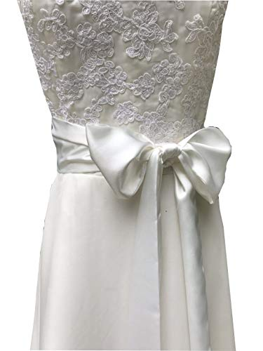 Special Occasion Dress sash Bridal Belts Wedding sash 4'' Wide Double Side (Ivory)