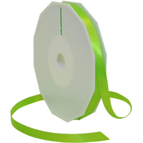 Morex Ribbon Neon Brights Satin, 3/8-inch by 50-yard, Key Lime