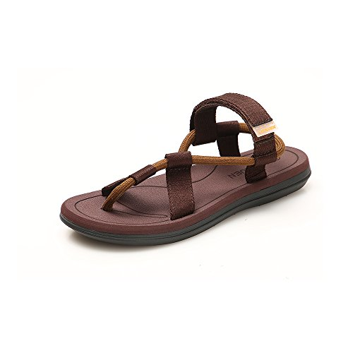 Jtomoo Men Sandals Summer Breathable Shoes Men Lightweight Slippers Outdoor Beach Mens Shoes Casual Slippers Brown by Jtomoo