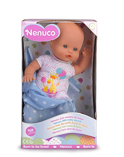 Nenuco Recien Nacido - Muneco Infantil con Sonidos de Bebe (Famosa 700015452)