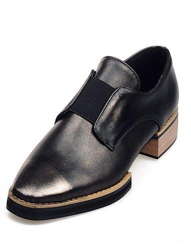 ZQ gyht Zapatos de mujer-Tacón Robusto-Punta Cuadrada / Punta Cerrada-Mocasines-Oficina y Trabajo / Casual / Fiesta y Noche-PU-Rojo / Oro , golden-us8 / eu39 / uk6 / cn39 , golden-us8 / eu39 / uk6 / c red-us5 / eu35 / uk3 / cn34