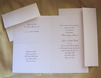 amazon com all in one 3 for 1 blank invitation paper kit in cream
