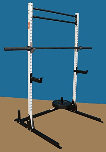 TDS Mega Open Rack / Squat Stand with two Professionally Knurled Chin-up Bars by TDS