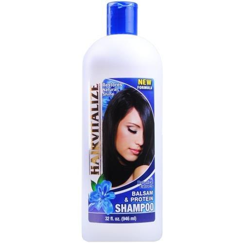 Balsam & Protein Shampoo - Restores Natural Shine, 32 oz,(Hairvitalize)
