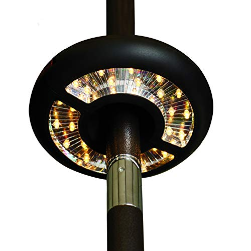 Patio Umbrella Lights Battery Operated, 3-Ways Switch, MYHH-LITES Warm White LEDs-Dual Up & Down Directional Lighting, Umbrella Pole Light for Patio Umbrellas, Camping Tents or Outdoor Use
