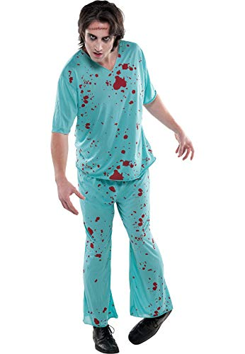 AMSCAN Bloody Scrubs Halloween Costume for Adults, Standard