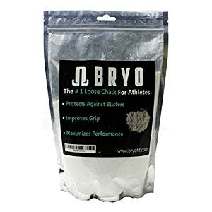 7 oz 200 gram bag of white loose chalk magnesium carbonate powder to dry hands and increase grip for all exercises and athletics – weightlifting, rock climbing, gymnastics, Crossfit
