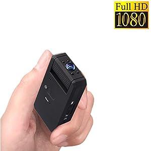 Zarsson Mini Spy Hidden Camera, Portable 1080P Nanny Cam DV Recorder with Motion Detection, Night Vision, 140 Degrees View Angle Video & Sound/Voice Recording (a Free 8GB Micro SD Card)