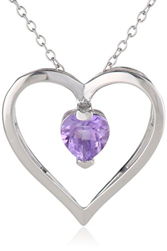 Birthstone Heart Necklace - 6