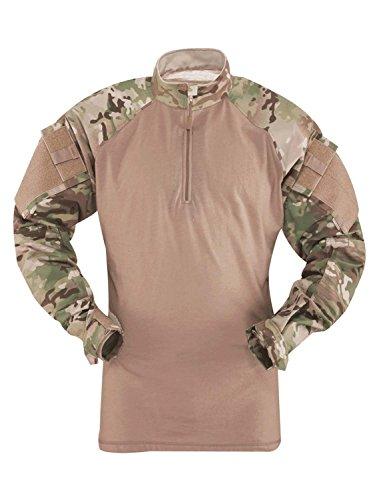 Tru-Spec 2541025 Mens TRU 1/4 Zip Combat Shirt, MultiCam ...