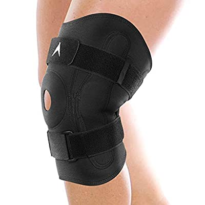ATX Hinged Knee Brace - Compression Support for ACL, MCL, Meniscus Tear - Adjustable Open Patella Knee Protector Stabilizer - Men & Women - Sold as Single Units (1)