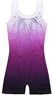 Zaclotre Kid Girls Gymnastic Leotard Sparkly Shiny Diamond Ballet Outfit