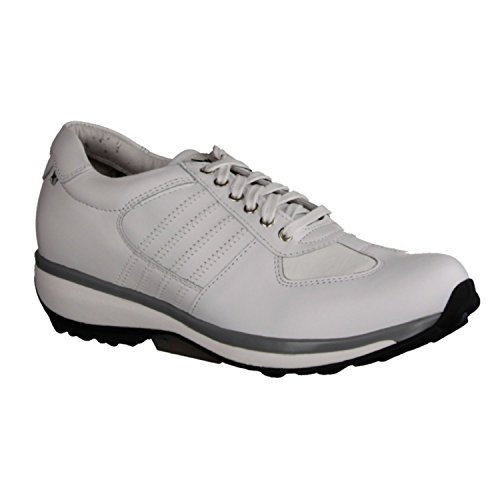 X sensible England 300013103 - Zapatos cómodos / relleno suelto Zapatos mujer Cómodo Zapatos de cordones, Blanco, piel ceñida