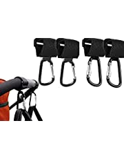 HyAdierTech Buggy clips, barnvagnskrokar barnvagnsklämmor för byte och shopping väska säkert shopping säkra krokar, universell passform, mångsidig för byte av väskhållare och shoppingväska, 4 st