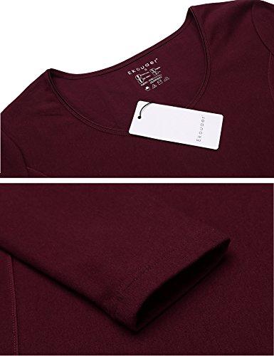 d2ad69c03a50 Ekouaer Women's Long Thermal Underwear Fleece Lined Winter Base Layering Set