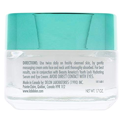 Beauty America Youth Lock, Advanced Anti-Aging Stem Cell Face Cream, 1.7 Oz, Off-White