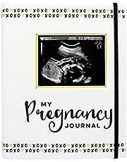 Pearhead Pregnancy Journal, White/Gold/Black