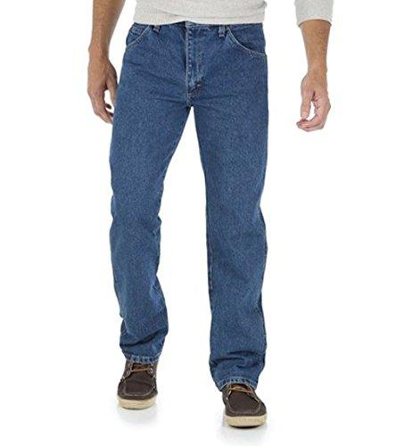 Jeans Genuine Wrangler Regular Fit (Wrangler Men's Regular Fit Jeans Five Star - Mens Genuine Jean (35X30, Pepper Stone))