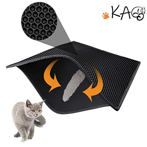 kaxionage Cat Litter Mat Litter Trapping Mat, 30 iInch X 24 iInch Waterproof Double Layer Honeycomb Design for Litter…