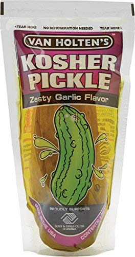 Van Holten's - Pickle-In-A-Pouch Jumbo Kosher Garlic Pickles - 12 Pack (Kosher Garlic)