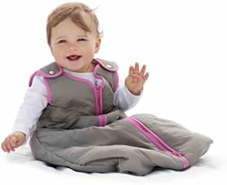 Baby Deedee Sleep Nest Baby Sleeping Bag, Slate Hot Pink, Small