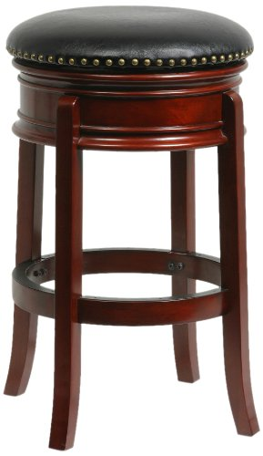 Stool Swivel Bar Hamilton - Boraam 43929 Hamilton Swivel Stool, 29-Inch, Cherry