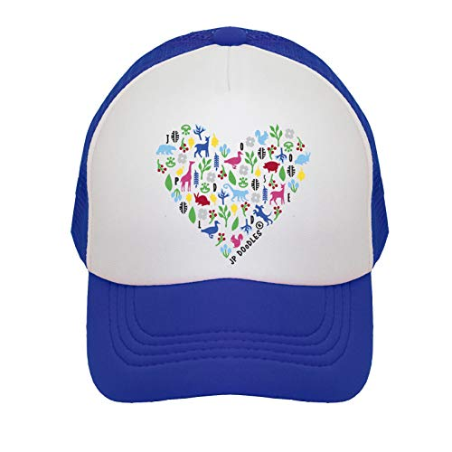 Heart on Baby Trucker Hat. The Baby Baseball Cap is Available in Baby, Toddler, and Adult Sizes. (Itty Bitty 4-12 Mos, Royal Blue)