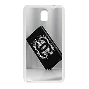 QQQO Famous brand logo Chanel wallet design fashion cell phone case for samsung galaxy note3