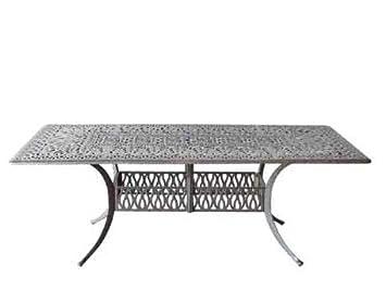 Heritage Outdoor Living Elisabeth Cast Aluminum 44 x84 Rectangular Table – Antique Bronze
