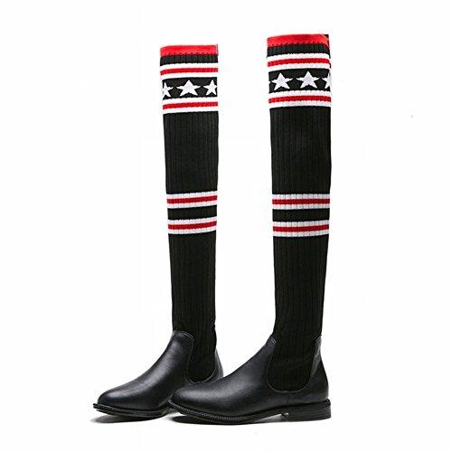 Las Algodón de Del de Cabeza 5 Zapatos Los Silenciador EUR34 Mujeres Manera la Los Calza Cuadrada Pelo Grueso la gris la de Del Boca la Zapatos el Zapatos Mujer de de wFWXZ