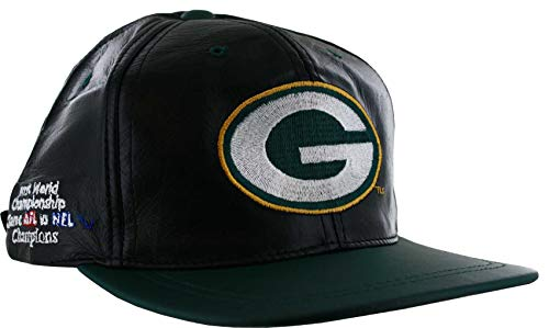 (Drew Pearson Green Bay Packers Super Bowl Champs Leather Hat)