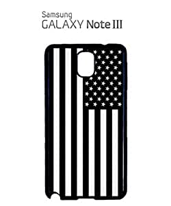 American Flag Black and White Mobile Cell Phone Case Samsung Note 3 Black by lolosakes