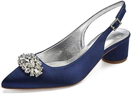 Lianyunneiyi Womens Satin Fall Spring Summer Sweet Wedding Shoes