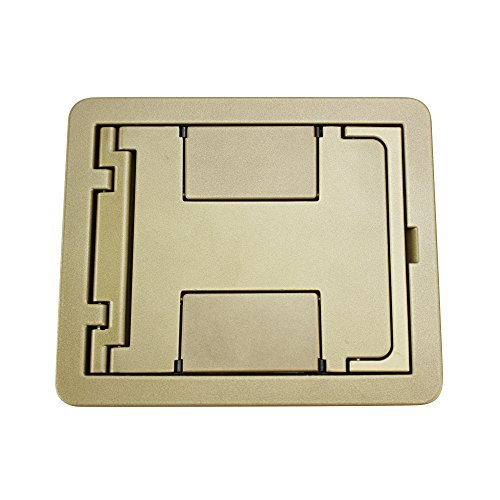 Wiremold Walker Legrand FPBTCBS Floorport Covers Flanged Blank Top, Brass ()