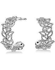 Mestige Brass Silver Filigree Earrings - MSER3848