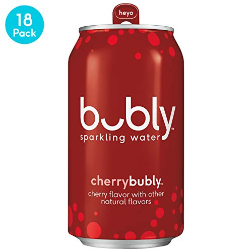 bubly Sparkling Water, Cherry, 12 fl oz. cans (18 Pack)
