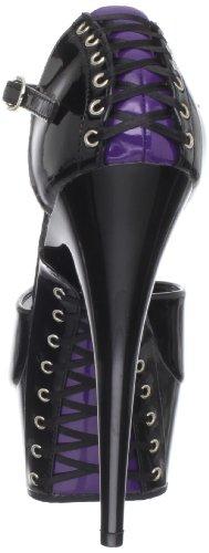 Donna Scarpe PleaserDelight Tacco Nero 660Fh Black con Pat Black purple Fggq5vI
