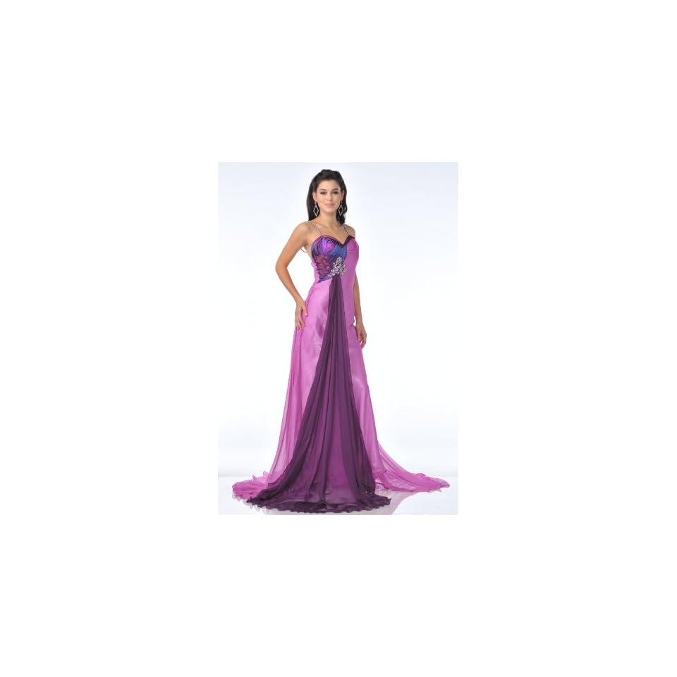 Zeilei 1013 Print Satin Halter Pageant Prom Dress